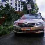 2016 Skoda Superb front india spied