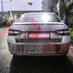 2016 Skoda Superb rear india spied
