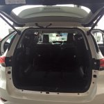 2016 Toyota Fortuner boot space on the showroom floor post unveil