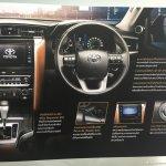 2016 Toyota Fortuner dashboard