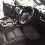 2016 Toyota Fortuner front cabin on the showroom floor post unveil