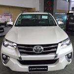 2016 Toyota Fortuner front on the showroom floor post unveil