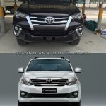 2016 Toyota Fortuner front vs older model