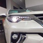 2016 Toyota Fortuner headlamps on the showroom floor post unveil