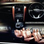 2016 Toyota Fortuner interior brochure leaked