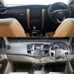 2016 Toyota Fortuner interior vs older model