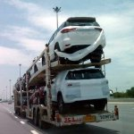 2016 Toyota Fortuner rear design spied on a transporter in Thailand