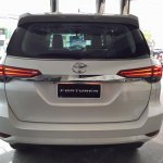2016 Toyota Fortuner rear on the showroom floor post unveil