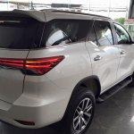2016 Toyota Fortuner rear quarter on the showroom floor post unveil