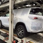2016 Toyota Fortuner rear quarter spied on transporter