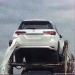 2016 Toyota Fortuner rear spied on a transporter in Thailand
