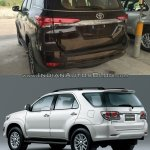 2016 Toyota Fortuner rear vs older model
