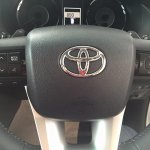 2016 Toyota Fortuner steering buttons on the showroom floor post unveil