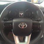 2016 Toyota Fortuner steering wheel on the showroom floor post unveil