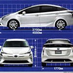 2016 Toyota Prius dimensions leaked