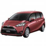 2016 Toyota Sienta front quarter in red unveiled in Japan