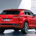 2016 Volkswagen Tiguan rear three quarter could be based on the MQB platform