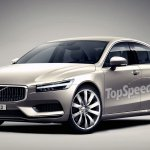 2016 Volvo S90 front three quarter unofficial rendering