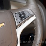2017 Chevrolet Spin steering mounted buttons unveiled in Delhi