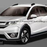 Honda BR-V rendered