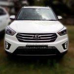 Hyundai Creta front dealer spied