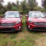 Hyundai Creta front fascia dealer spied