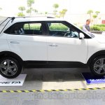 Hyundai Creta profile with tent