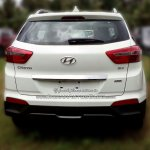 Hyundai Creta rear dealer spied