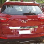 Hyundai Creta rear dealership spied