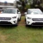 Hyundai Creta white dealer spied
