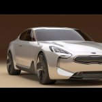 Kia GT concept front three quarters right