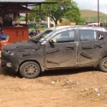 Mahindra S101 side new test mule revealing spyshot