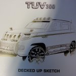 Mahindra TUV300 sketch released (Mahindra TUV3OO sketch released)