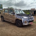 Mahindra U301 side new test mule revealing spyshot