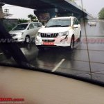 Mahindra XUV500 petrol quarter snapped in Chennai