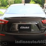 Maserati Ghibli rear India reveal