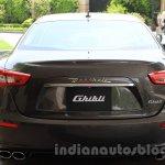 Maserati Ghibli rear India reveal