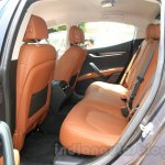 Maserati Ghibli rear seat India reveal