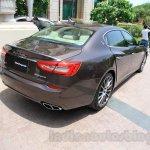 Maserati Quattroporte rear seat India reveal