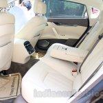 Maserati Quattroporte rear seats India reveal