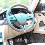 Maserati Quattroporte steering India reveal