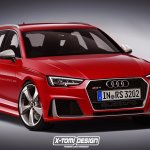 Next generation Audi RS4 Avant front three quarter Rendering