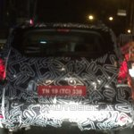 Renault Duster facelift rear India spied