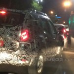 Renault Duster facelift rear quarter India spied