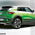 Renault sub-4m SUV rear rendering