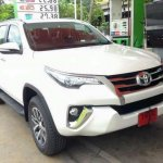 Toyota Fortuner spied front three quarter