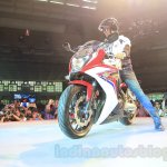 2015 Honda CBR 650R front quarter (1) launched