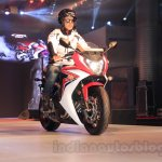 2015 Honda CBR 650R front quarter launched