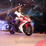 2015 Honda CBR 650R front three quarter launched