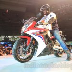2015 Honda CBR 650R front three quarter left launched